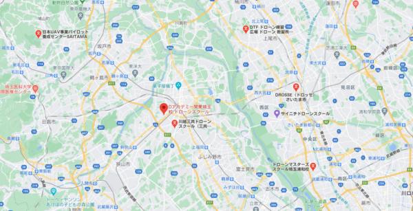 Dアカデミー関東埼玉校付近にあるドローンスクールの画像
