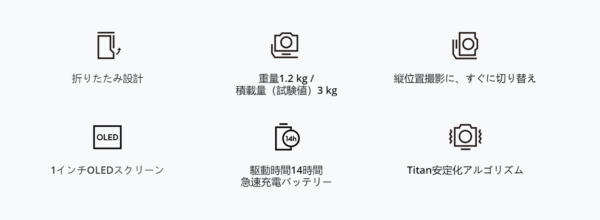 DJI RSC 2「大まかな特徴」の画像