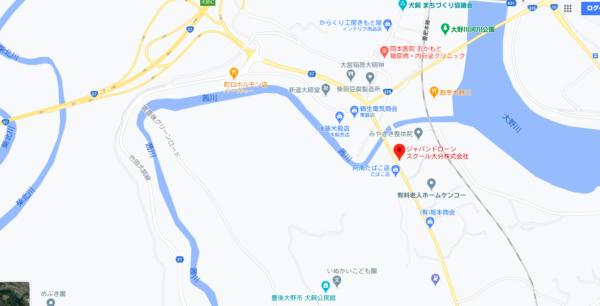 大分県のドローンスクールマップです。